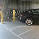Tesla Charging in Parking Garage at The Ridge Apartments in Sandy - Midvale, Utah