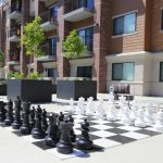 Large Chess Set on Deck - 10 ft x 10 ft -Balcony View - Bedroom - The Ridge Apartments in Sandy - Midvale, Utah