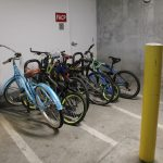 Bike Stands in Parking Garage at The Ridge Apartments in Sandy - Midvale, Utah
