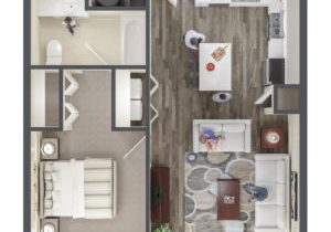The Ridge Apartment Homes 1 Bedroom Apartment Floor Plan - Midvale, UT