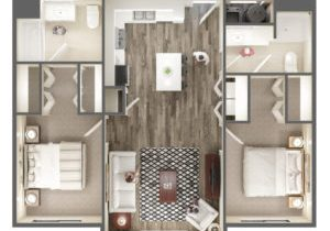 The Ridge Apartment Homes 2 Bedroom Apartment Floor Plan - Midvale, UT